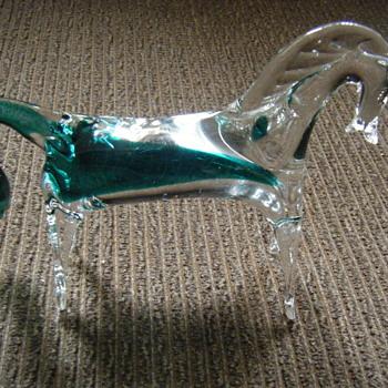 MURANO/GLASS HORSE!! - Art Glass