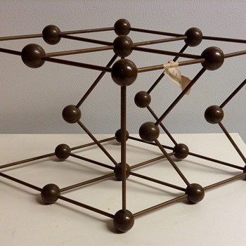 Mid Century Metaloglass, Inc. Sculptural Molecular Model of Magnesium - Mid-Century Modern