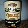 Rare Harley Davidson Pre-Luxe Cardboard Oil Can NEVER HAD OIL in it Any Info appreciated?