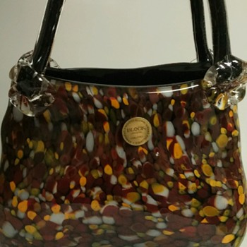 Does this purse match my shoes? Does BLOCK and Fenton go together? :) - Art Glass