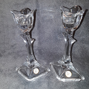 pair of crystal candlesticks - Lamps