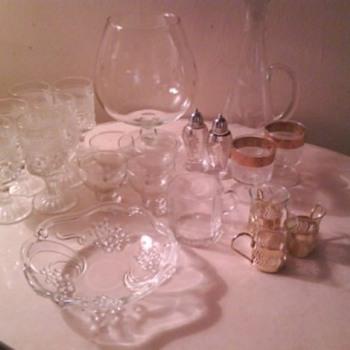 Vintage Glassware (additional closeups & info enclosed)