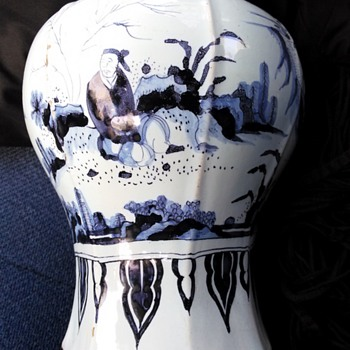 Thrift Shop find 18th Century Delft Vase  - Pottery