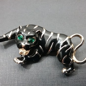 Les Bernard tiger brooch  - Animals