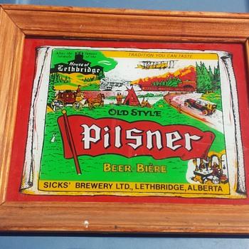 Pilsner Lethbridge sign