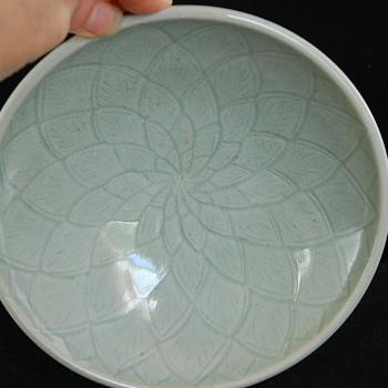 Korean Celedon Lotus Dish - Asian