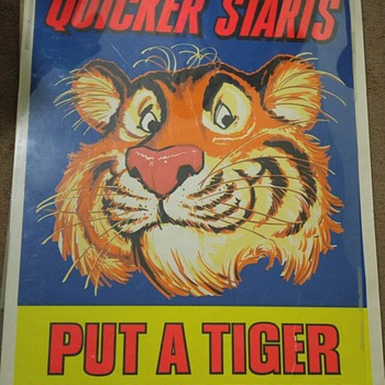 Esso Tiger Poster  - Advertising