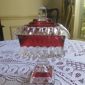 Westmoreland Glass Ruby Flash Candy Dish - Glassware