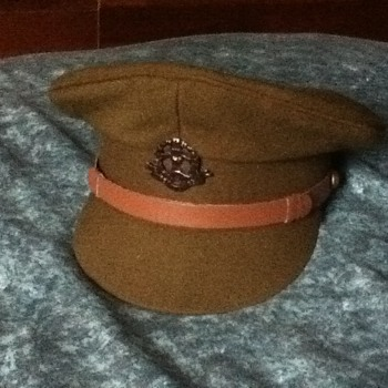 WW1 BRITISH OFFICER CAP - Military and Wartime