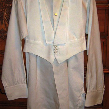 Early 1900's Shirt and Waistcoat  - Mens Clothing