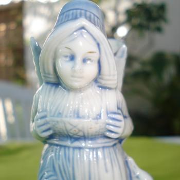 German porcelain figurine, match holder