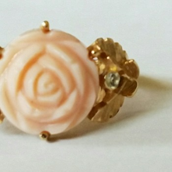 Vintage Avon Light Pink Rose Ring - Costume Jewelry