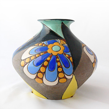 Art Déco pottery vase, ca. 1930 - Art Deco