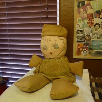 Vintage WWII WAC Clothe Doo - Dolls