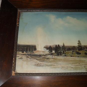 Mahogony framed photo of old faith inn Made be Haynes  from the yr 1910 - Photographs