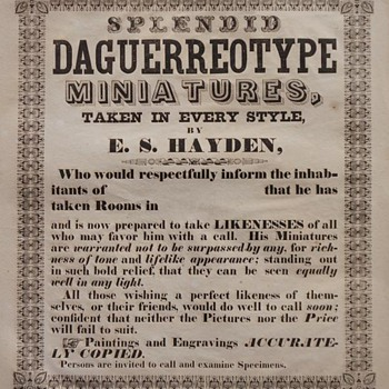 Daguerreotypist's Broadside (advertising poster), c.1850 - Posters and Prints