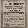 Daguerreotypist's Broadside (advertising poster), c.1850