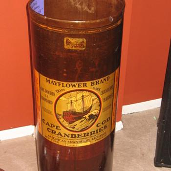 Cape Cod Cranberry Barrel - Advertising