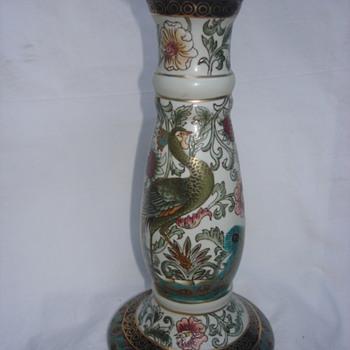 PEACOCK PEDESTAL  - Pottery