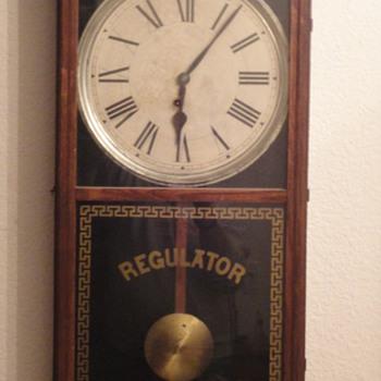 E Ingraham Wall Regulator Pendulum Clock - Clocks