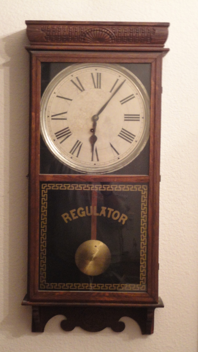 E Ingraham Wall Regulator Pendulum Clock Collectors Weekly