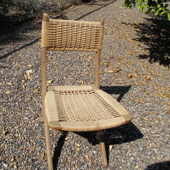 collapsible deck chair made in Yugoslavia - Furniture