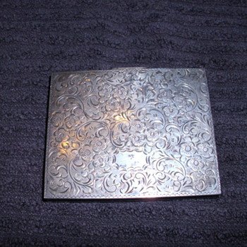 STERLING SILVER COMPACT CASE 985 - Silver