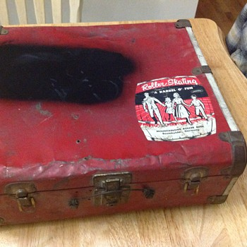 vintage roller skating case military germany  - Military and Wartime