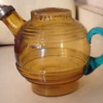 Mystery Vintage Glass Kettle or Teapot - Who made it? - Kitchen