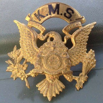 Kemper military School hat eagle - Military and Wartime