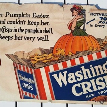 Early 1900's Washington Crisps Cereal Advertisement - Signs