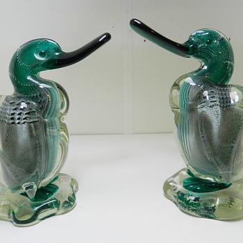 c.1938 Barbini VAMSA Bullicante Ducks - Italian Murano Art Glass - Art Glass