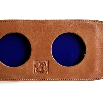Junker Blue Lenses in Leather Holder - Cameras