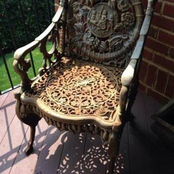 Four Seasons Wrought Iron Patio Set, Origin? - Furniture
