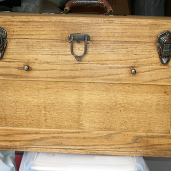 Grandfather's Oak Machinist Tool Box