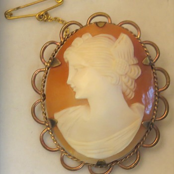 Shell Cameo Brooch - Fine Jewelry