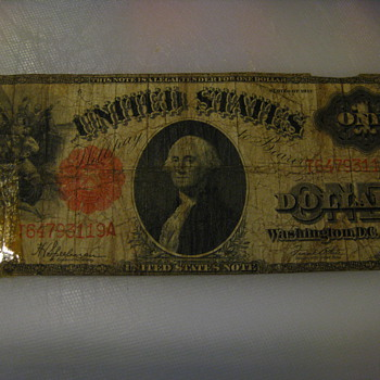 1917 One Dollar Note - US Paper Money