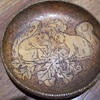 pyrography wooden bowl
