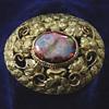 """An Australian """"Goldfields"""" Brooch circa 1880, set with a Boulder Opal"""