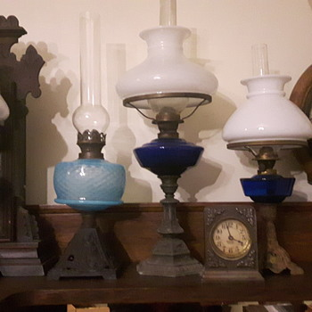 Shades of blue oil lamps - Lamps