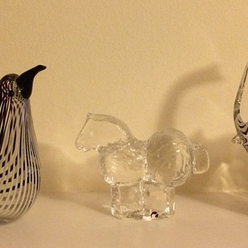 Pukeberg horse and two unknown Murano (?) animals