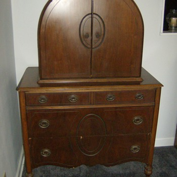 My Favorite Old Antique Rare Domed Top Chest - Furniture