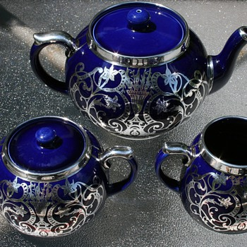Silver Overlay Tea Set ~ Maker? - China and Dinnerware