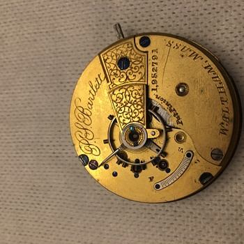 A Waltham, S18, 11J pocket watch, Model 1952791 - Pocket Watches