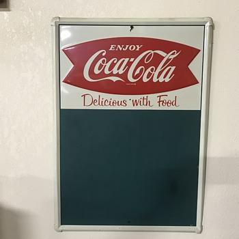Coca Cola chalkboard  - Coca-Cola