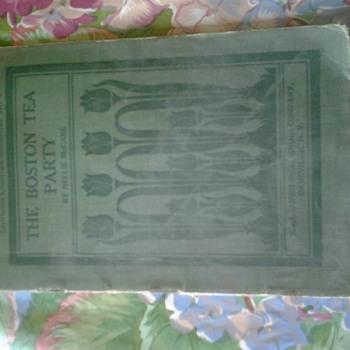 the boston tea party book circa 1907