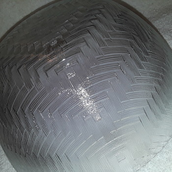 another 'basketweave' patterned glass serving bowl - Glassware