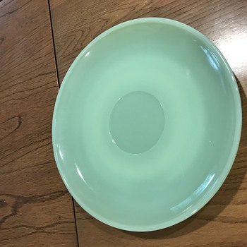 "Old Fire King Jadeite plate/saucer 7.5"" - Glassware"