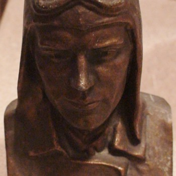 Lindy Bank/Bust 1928 Charles Lindbergh - Fine Art