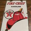 "FINALLY!!!  got my ""baby sized"" Texaco Fire Chief sign"